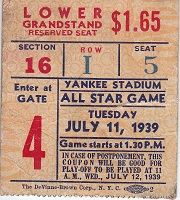 All Star Game Ticket Stub