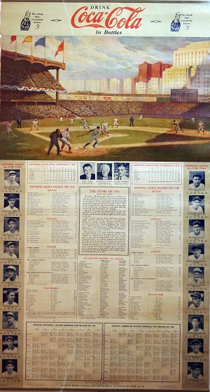 Coca Cola 1939 World Series Poster painted by William Godfrey