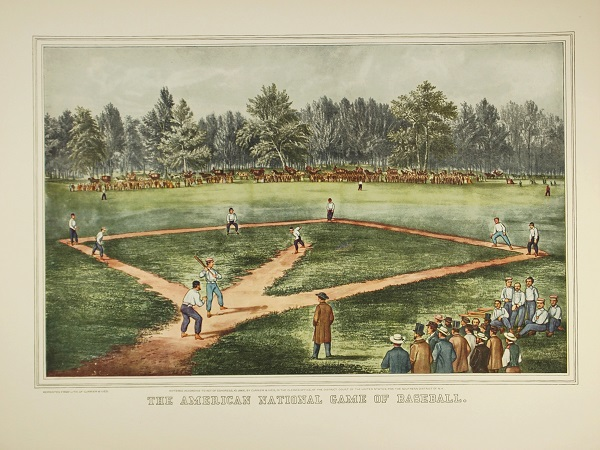 Currier and Ives The American National Game of Baseball used by Osborne