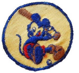 1939 Mickey Mouse Baseball Patch