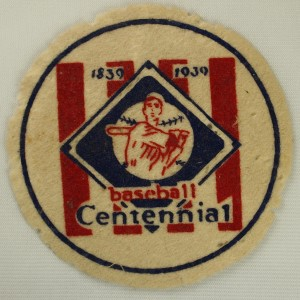 Centennial Patch worn by Cooperstown Mens Team for Alexander Cartwright Day
