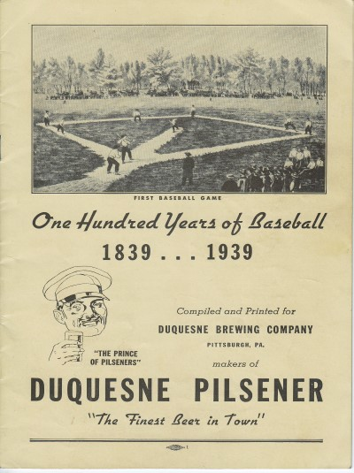 1939 100 Years of Baseball, Duquesne Brewing Company