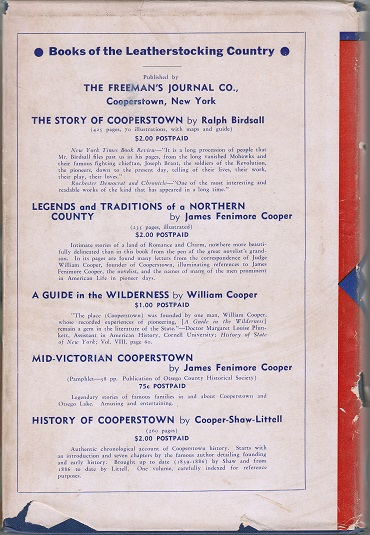 1939 A Century of Baseball with dust cover back