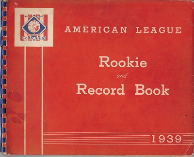 1939 American League Rookie Book