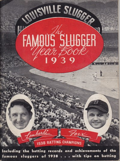 1939 Famous Slugger Year Book