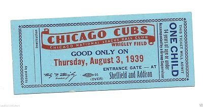 Chicago Cubs Kid's Pass