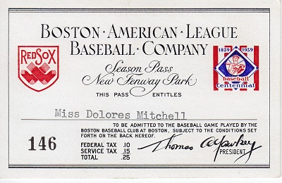 1939 American League Boston Red Sox