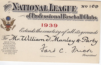 1939 National League