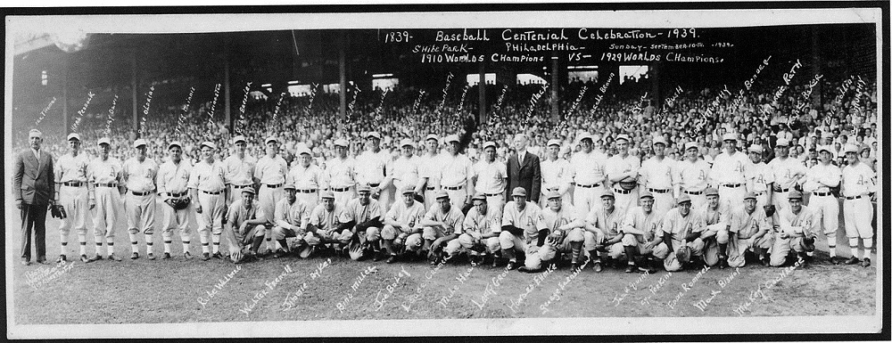 Connie Mack's Centennial Exhibition Game. Sunday September 10, 1939