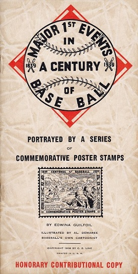 Forest Park Baseball Museum - 1939 Centennial Poster Stamp Book by Al Demaree