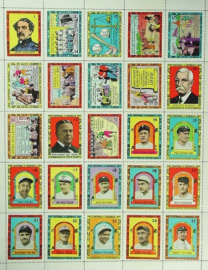 Forest Park Baseball Museum - 1939 Centennial Poster Stamps by Al Demaree