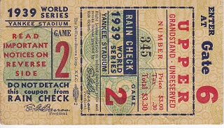 1939 World Series Game 2