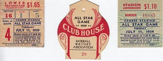 All Star Game Ticket Stubs
