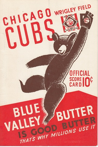 Chicago Cubs vs NY Giants Centennial Score Card