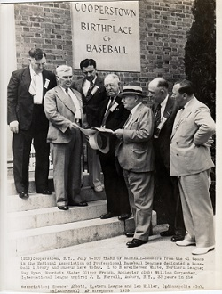 Dedication of the Baseball Library July 9, 1939