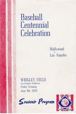 Los Angeles Angels vs Hollywood Stars Centennial Program