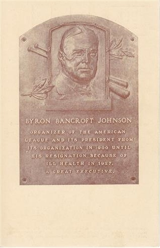 1937 Byron Johnson Hall of Fame Plaque