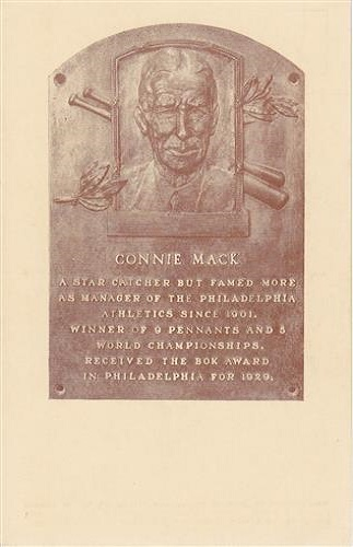 1937 Connie Mack Hall of Fame Plaque