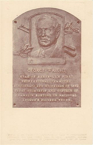 1937 George Wright Hall of Fame Plaque