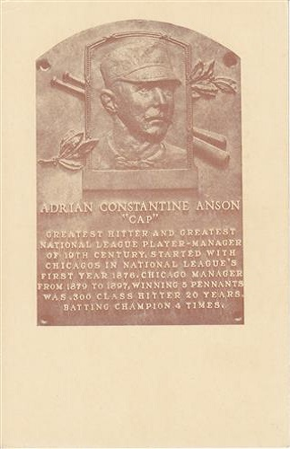 1939 Adrian Anson Hall of Fame Plaque