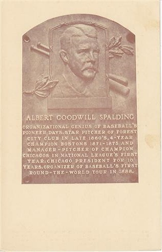 1939 Albert G Spalding Hall of Fame Plaque