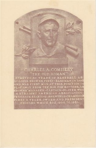 1939 Charles Comiskey Hall of Fame Plaque