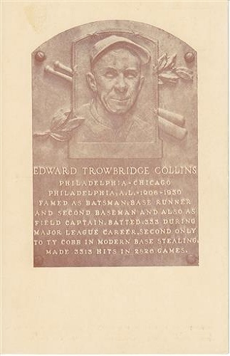 1939 Edward Collins Hall of Fame Plaque