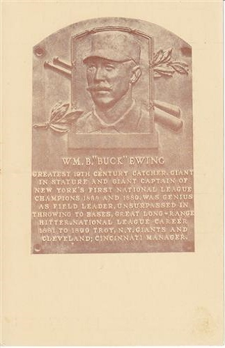 1939 William Buck Ewing Hall of Fame Plaque