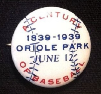 1939 Baltimore Orioles Park Pin Mfg. by Hyatt