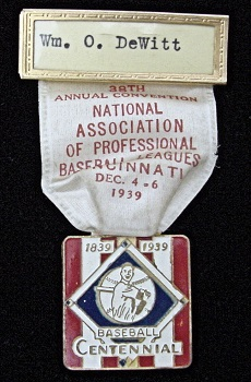 1939 Minor Major League Winter Meeting Dignitary MFG by Bactian Bros.