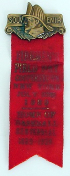 Fireman&#39;s Day Dignitary Badge<br/>Cooperstown NY July 22, 1939