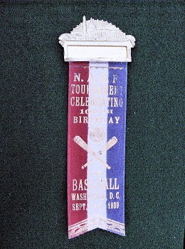 National Amateur Federation Baseball Tournament Dignitary Badge Sept 17,1939