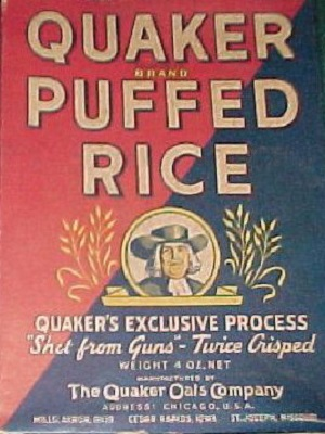 1939 baseball Quaker Oats Box