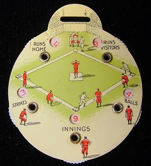 1939 Centennial Umpires Watch Fob Score Indicator - Back Side