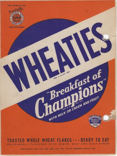 Wheaties Box - Back cover Series of 9