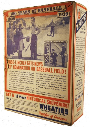 Wheaties Complete Box 1860 Lincoln gets the news