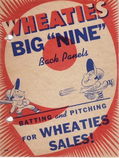 Wheaties Box - Cover of Sales 2 ring binder Series of 9